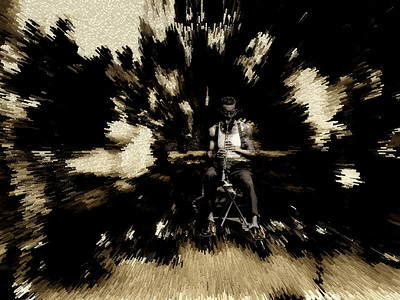 Jazz Man Blows Them Away II, Washington Square Park, Greenwich Village, New York City, 2007