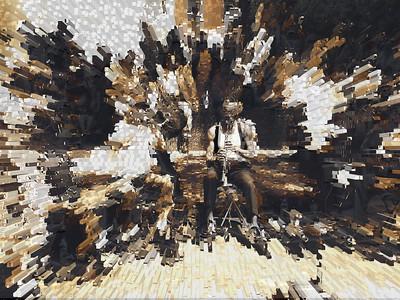 Jazz Man Blows Them Away III, Washington Square Park, Greenwich Village, New York City, 2007