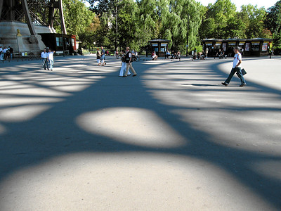 Shadows beneath The Eiffel Tower, Paris, France 2006