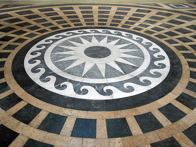 Photo of floor stonework, Le Pántheon, Paris, France, 2006