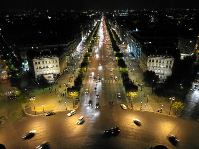 Champs d'Elysee, View from the Arc de Triomphe - Paris, France 2006