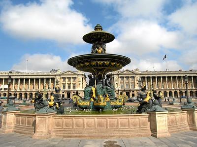 Place de la Concorde , view north towards Rue Royale, Paris, France 2006