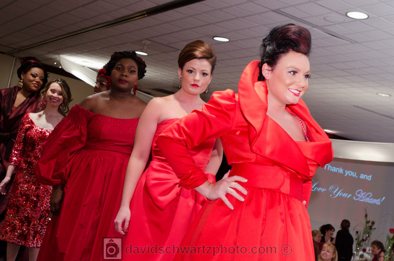 Lake Health Wear Red Event 2012. Fashion show by Ursuline College