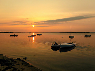 Late Summer Sunset, view of The Great South Bay from Fair Harbor, Fire Island, NY