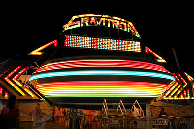 Gravitron - The Human Centrifuge, (.8 second exposure), at a local town fair Bridgehampton, Long Island, 2008