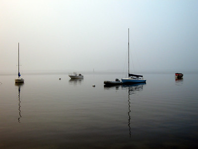 Fog sets on the great south Bay, Fire Island Seashore, Fair Harbor, New York