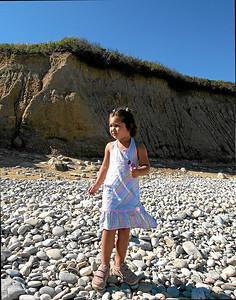 Anika enjoys a pop on Montauk Pt (II), Age 3, Montauk Pt, New York, Summer 2007