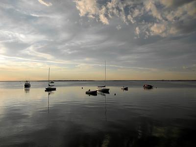 Silver Sky Sailboats, view from Fair Harbor, Fire Island, NY