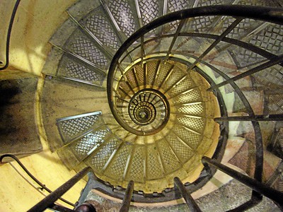 Stairwell Spiral, Arc de Triomphe - Paris, France 2006