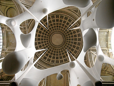 Léviathan Thot, by Ernesto Neto (looking up). Le Pántheon, Paris, France, 2006