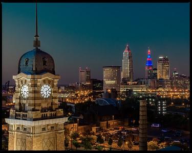 Westside Market View of The Cleveland Skyline