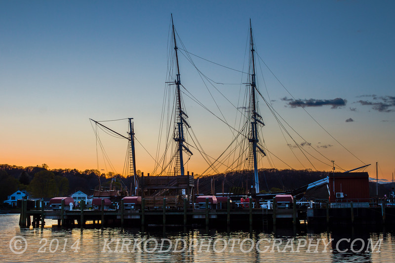 Morgan Masts at Sunset