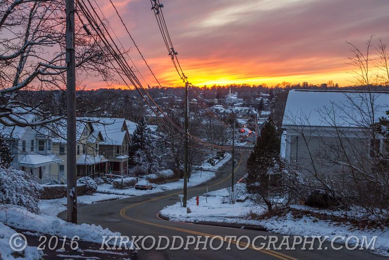 Mystic Winter Sunset