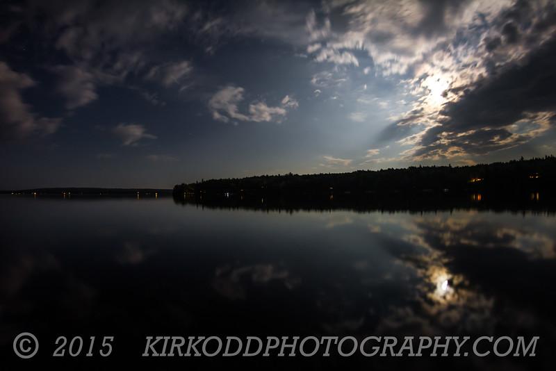 Branch Lake Night Sky Long Exposure