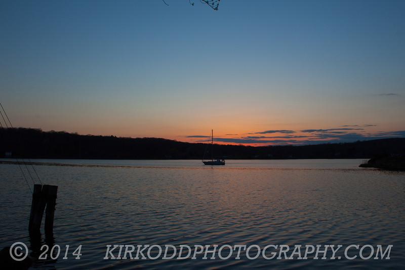 Mystic River Landscape Sunset - Wide Angle