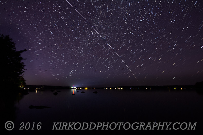ISS with Star Trails