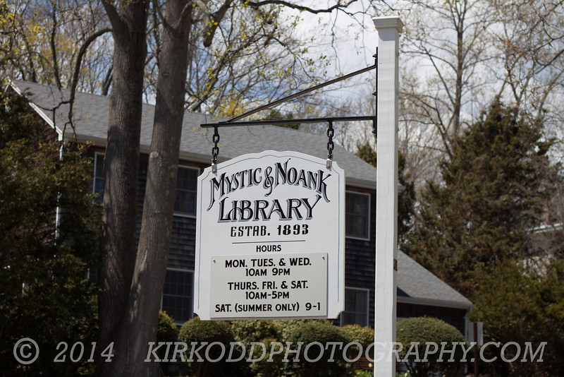 The Mystic & Noank Library in Mystic, CT.