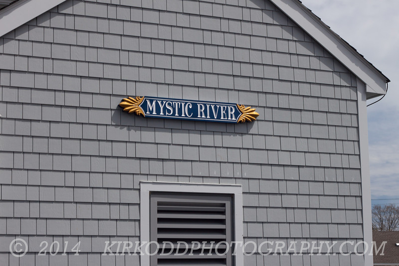 The Mystic River...on a building (there actually is not a good photo of the river in this entire gallery!)