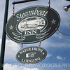 Steamboat Inn Sign in Mystic, CT by the water front