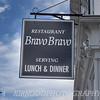 The Bravo Bravo Restaurant in Mystic, CT.  A coworker told me we should check this place out, but all I ever do is take a picture of their sign.