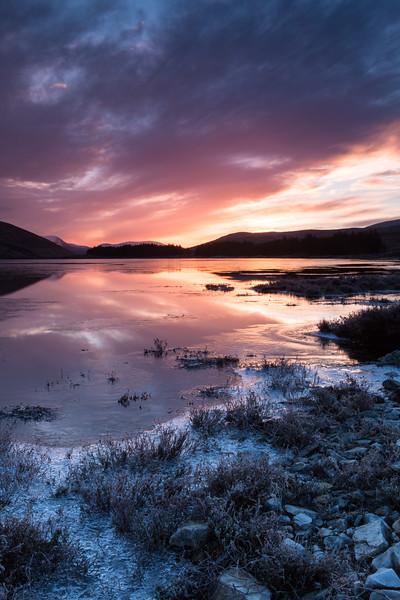 Icy Sunrise, Loch Glascarnoch