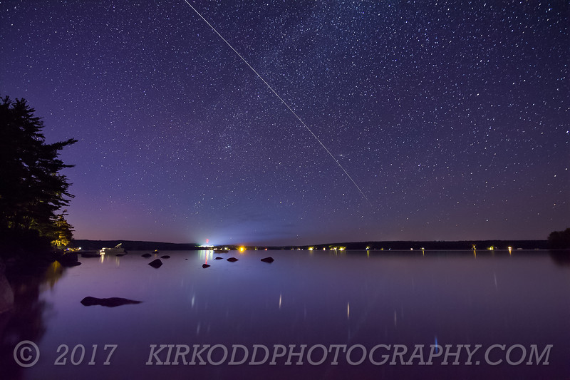 International Space Station Flies over Branch Lake