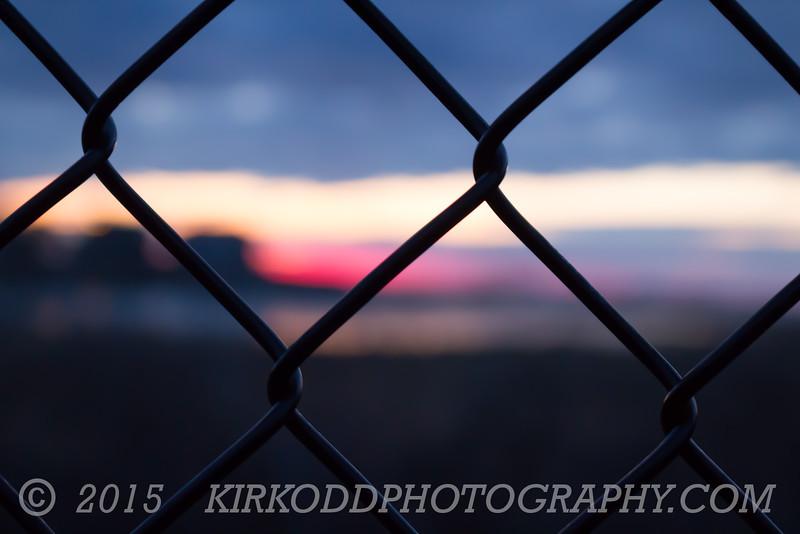 Fenced In Sunrise