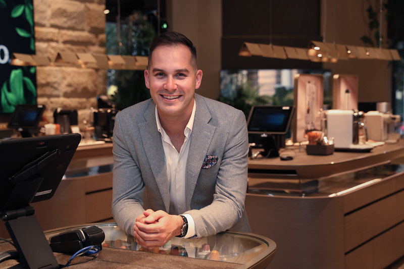 Coffee Ambassador Mitch Monaghan at the George St Boutique 5