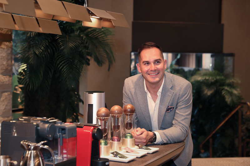 Coffee Ambassador Mitch Monaghan at the George St Boutique 11