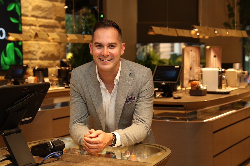 Coffee Ambassador Mitch Monaghan at the George St Boutique 4