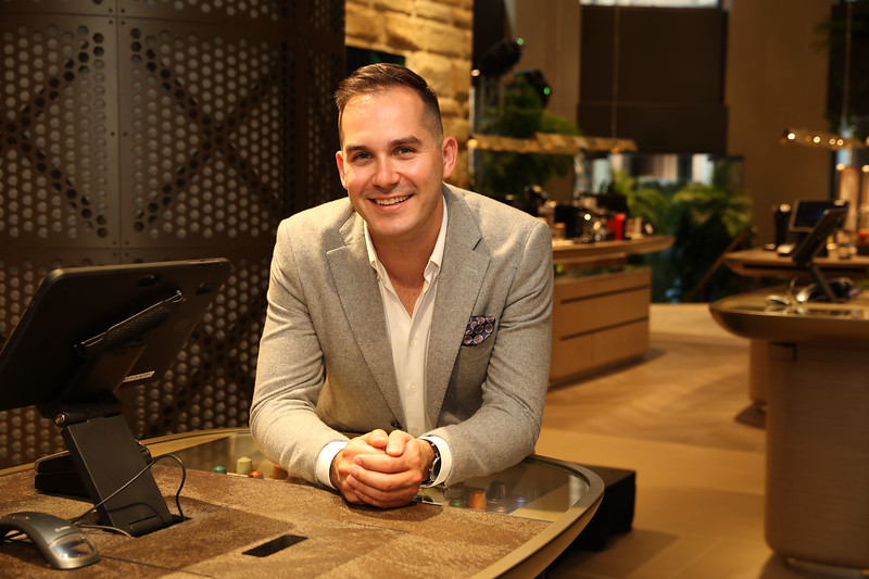 Coffee Ambassador Mitch Monaghan at the George St Boutique 2