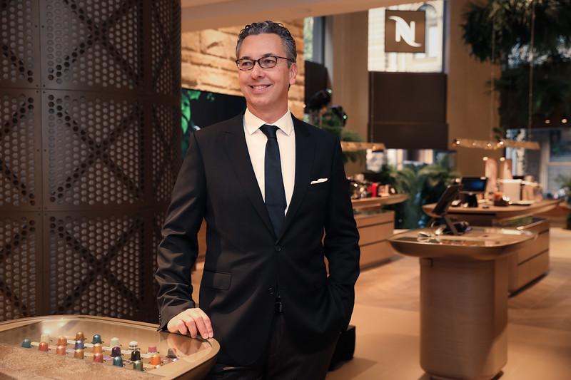 Nespresso Australia's General Manager Loïc Réthoré at the launch of the George St Boutique 1