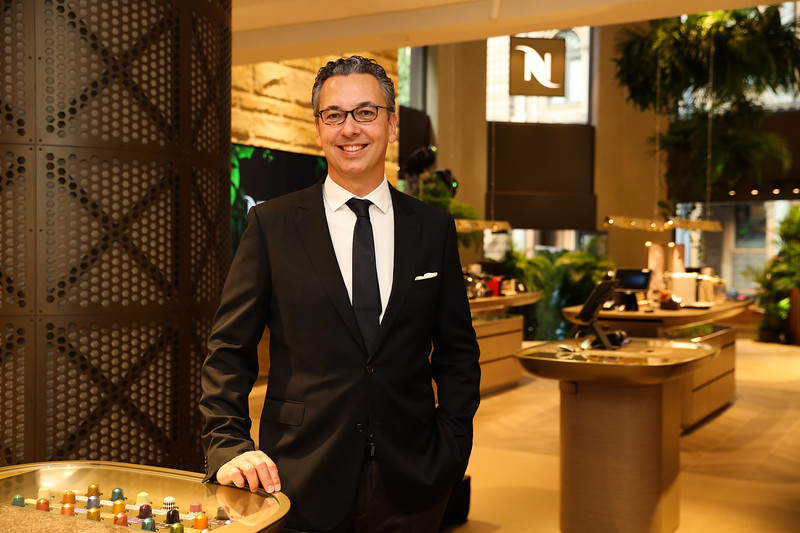 Nespresso Australia's General Manager Loïc Réthoré at the launch of the George St Boutique 4