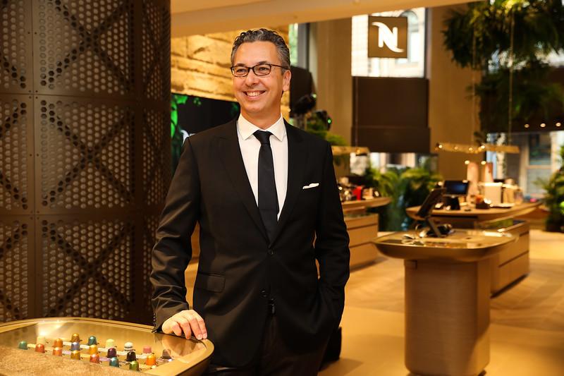 Nespresso Australia's General Manager Loïc Réthoré at the launch of the George St Boutique 2