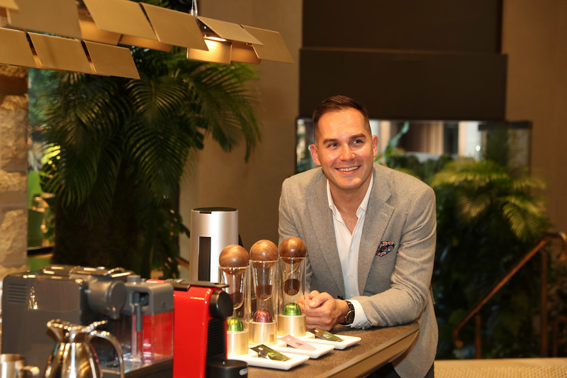Coffee Ambassador Mitch Monaghan at the George St Boutique 10