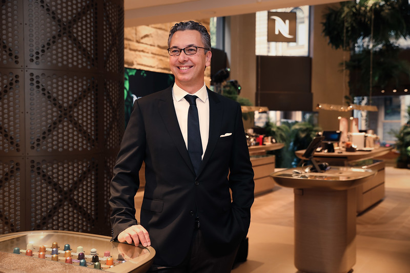Nespresso Australia's General Manager Loïc Réthoré at the launch of the George St Boutique 3