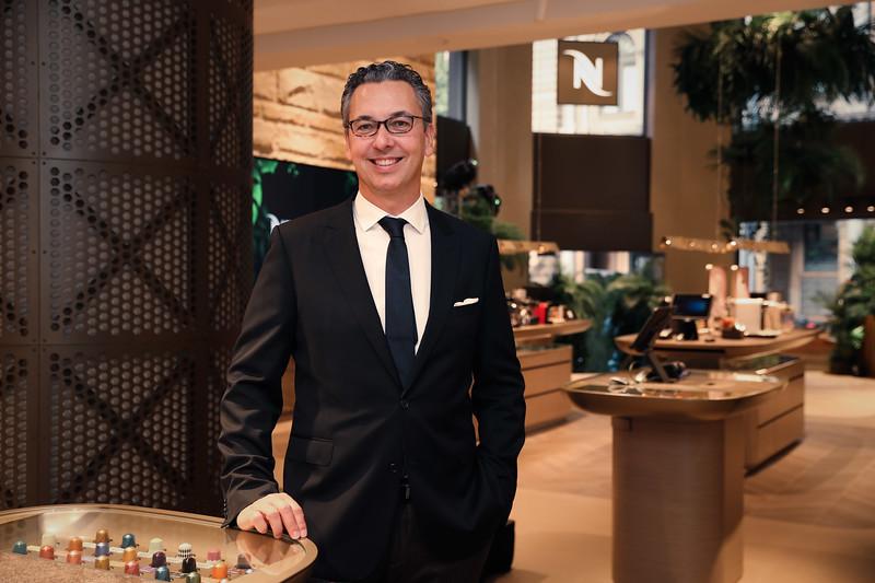 Nespresso Australia's General Manager Loïc Réthoré at the launch of the George St Boutique 5