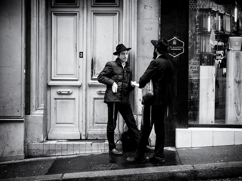Hasidic Men, Montmatre