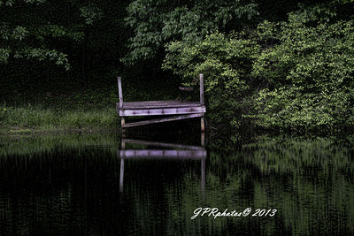 Dock across lake