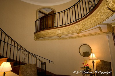 Lobby, stairs to second floor original Manor