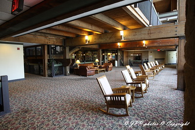 First stop the lodge for check in this is a shot of the back lobby overlooking the outdoor pool