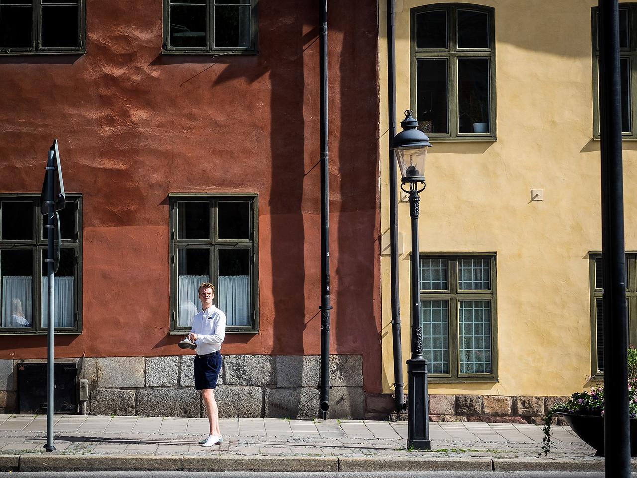Shoeless in Stockholm