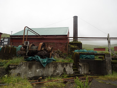 The abandoned  Norwegian whaling station at Við Áir. It was last used in the 1960s. There are only two other whaling stations like this still existing in the world - one in Australia and the other in South Georgia.