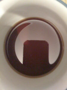 coffee cup reflection