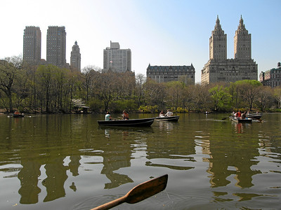 Central Park Boating, View of Central Park West, New York City Spring 2008