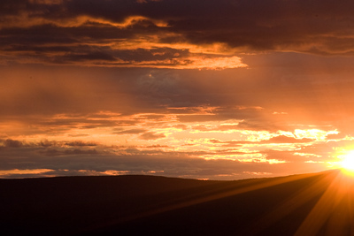 Ester dome sunset at about 10pm last August