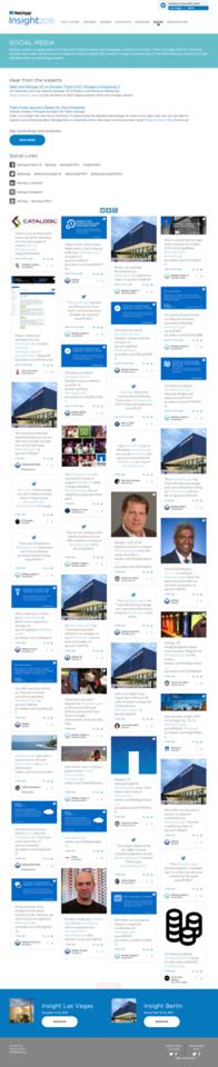 NetApp Insight Event Landing Page