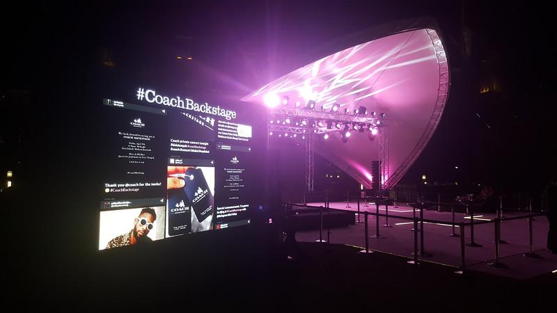 Coach Backstage Tinie Tempah show concert