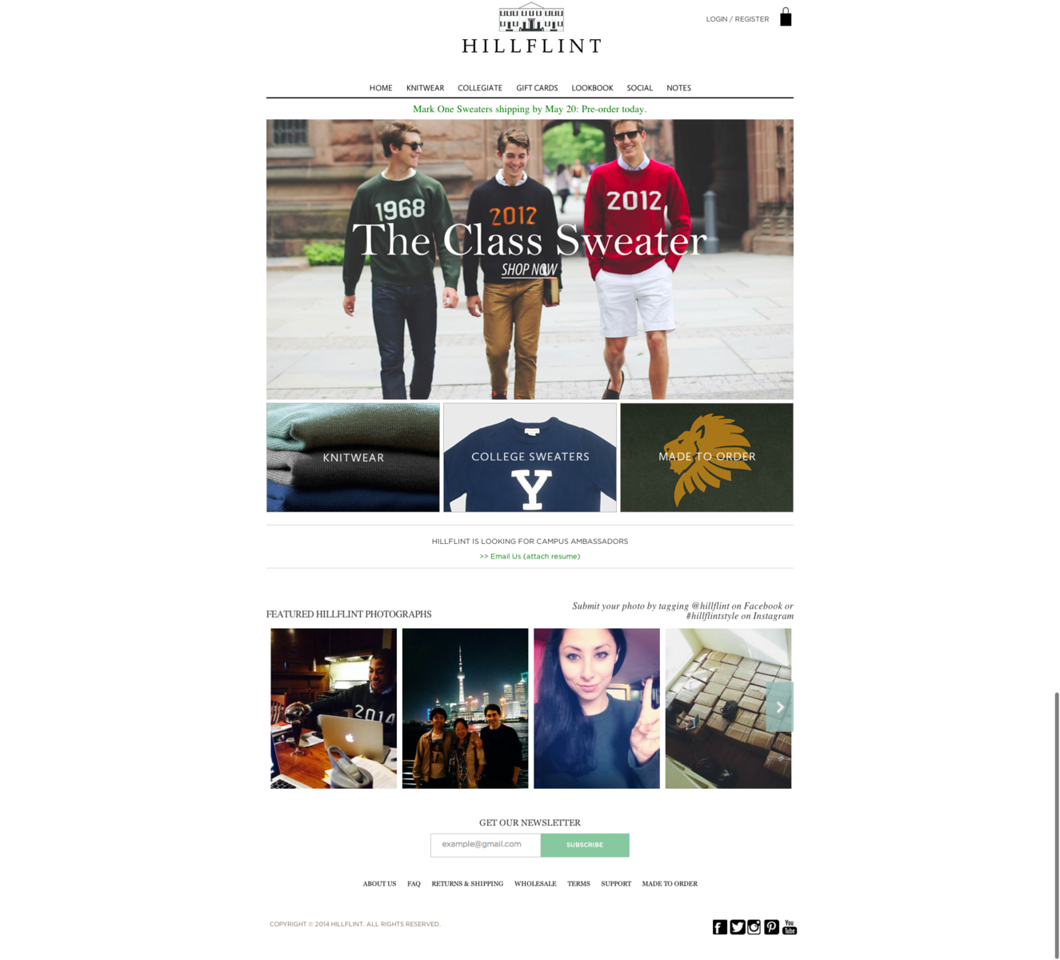 Hillflint Luxury Sweaters Collegiate Apparel