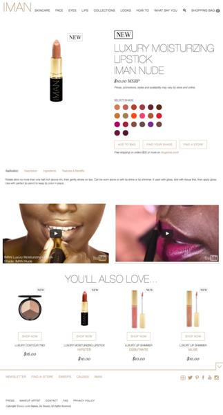 IMAN Cosmetics | Luxury Moisturizing Lipstick, IMAN Nude